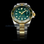 Cheap replica Rolex GMT-Master II Automatic Two Tone Green Ceramic Bezel with Green Dial(Gift Box is
