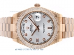 Cheap replica Rolex Day-Date II Swiss ETA 2836 Movement Full Rose Gold Diamond Bezel and Markers wit