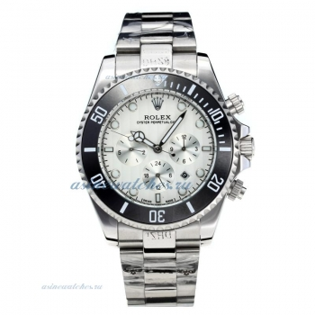 Rolex Oyster Perpetual Date Automatic Black Bezel with White Dial S/S