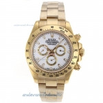 Cheap replica Rolex Daytona II Chronograph Swiss Valjoux 7750 Movement Full Gold Stick Markers with