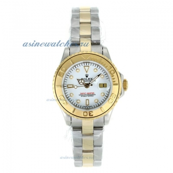 Cheap replica Rolex Yacht-Master Automatic Two Tone with White Dial 1 sale in this store!