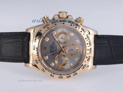 Discount Rolex Daytona Automatic Gold Case with Gray Dail-Diamond Marking sale