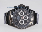 Discount Rolex Daytona Automatic Full PVD with Black Dial Roman Marking sale