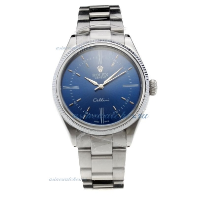 Cheap replica Rolex Cellini Automatic with Blue Dial S/S-2 online