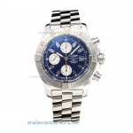 Cheap replica Breitling Chrono Avenger Chronograph Swiss Valjoux 7750 Movement with Blue Dial S/S-Sa