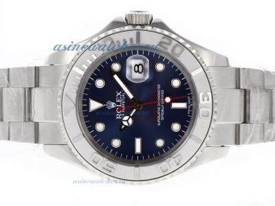 Cheap replica Rolex Yacht-Master Automatic with Blue Dial Same Structure as ETA Version sale in this