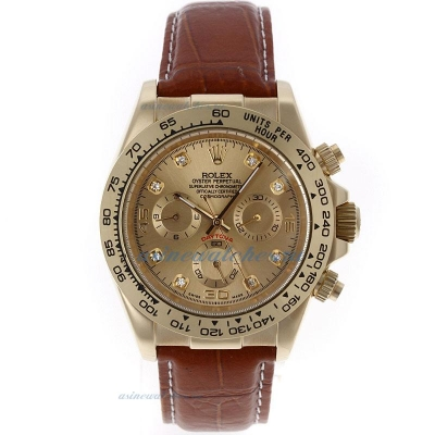 Discount Rolex Daytona Automatic Gold Case with Golden Dial 1 sale