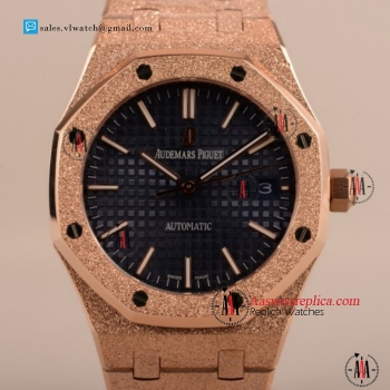 Cheap Audemars Piguet Royal Oak 41MM 3120 Auto Rose Gold Case with Blue Dial For Sale - (EF)