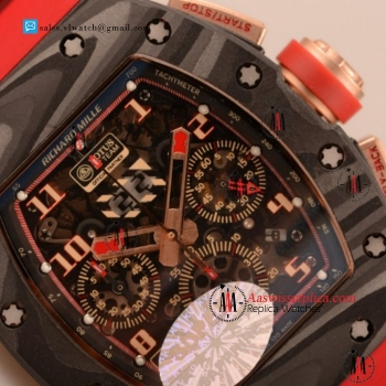 1:1 Cheap Richard Mille RM 11-02 7750 Auto Chronograph Carbon Fiber Case with Skeleton Dial For Sale