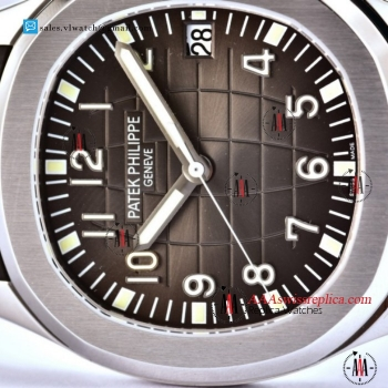 Patek Philippe Aquanaut Jumbo Miyota 9015 Auto Steel Case With Brown Dial For Sale - (ZF)