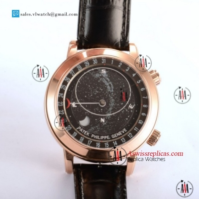 Patek Philippe Grand Complication Sky Moon Celestial 9015 Auto Rose Gold Case With Black Dial For Sale