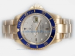 Cheap Rolex Submariner Automatic Full Gold Diamond Marking with Gray Dial on sale