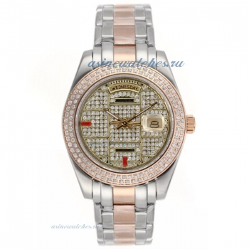 Cheap replica Rolex Masterpiece II Automatic Two Tone with Diamond Bezel and Dial 4 online