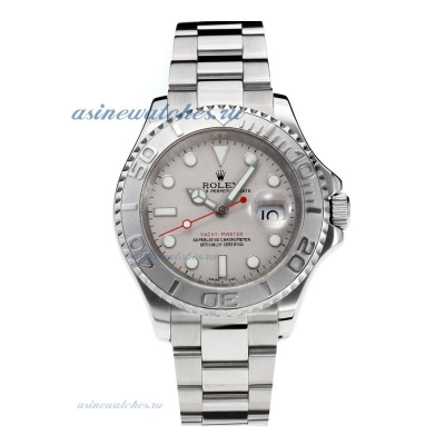 Cheap replica Rolex Yachtmaster Automatic with Super Luminous Grey Dial S/S-Sapphire Glass- Same Cha