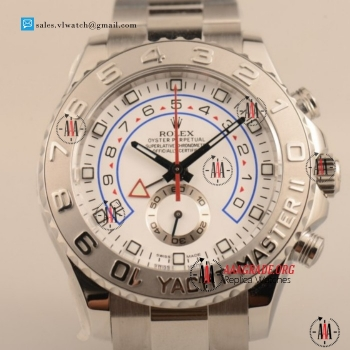 1:1 Cheap Rolex Yacht-Master II 7750 Auto Chronograph Steel Case with White Dial For Sale (JF)