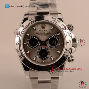 Cheap Rolex Daytona Chronograph 4130 Auto Steel Case with Gray Dial For Sale - (EF)