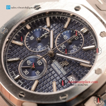Cheap Audemars Piguet Royal Oak Chronograph Miyota OS10 Quartz Steel Case with Blue Dial For Sale