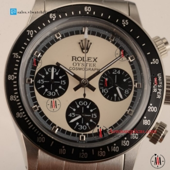 Rolex Daytona Vintage Chrongraph OS20 Quartz Steel Case with White Dial For Sale