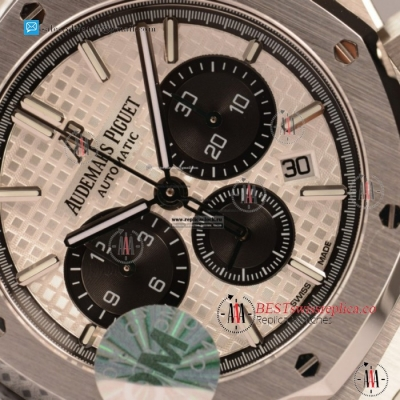 Audemars Piguet Royal Oak Chronograph Swiss Valjoux 7750 Auto Steel Case With White Dial For Sale - (JH)