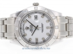 Cheap replica Rolex Masterpiece Swiss ETA 2836 Movement Diamond Marking with White Dial 2 online