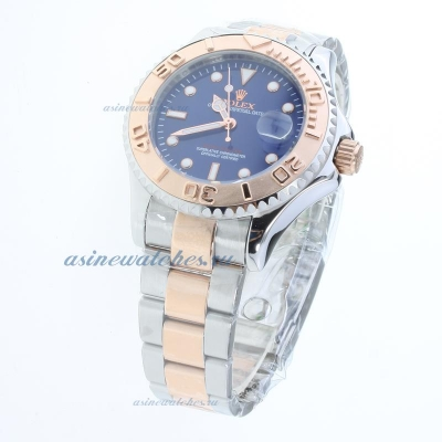 Cheap replica Rolex Yachtmaster Automatic Two Tone with Blue Dial sale in this store!
