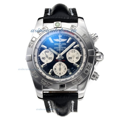 Cheap replica Breitling Classic Swiss Valjoux 7750 Movement with Black Dial Sapphire Glass-Leather S
