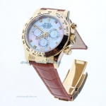 Discount Rolex Daytona Swiss Calibre 4130 Chronograph Movement Gold Case Diamond Markers with MOP Di