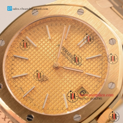 Cheap Audemars Piguet Royal Oak OS20 Quartz Yellow Gold Case with Yellow Gold Dial For Sale
