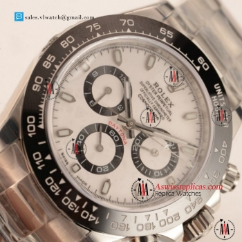 1:1 Rolex Daytona Chronograph 7750 Auto 904Steel Case with White Dial For Sale (N00B)