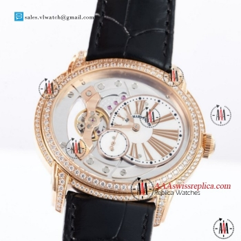 Audemars Piguet Millenary Miyota 9015 Auto Rose Gold Case With White Dial For Sale