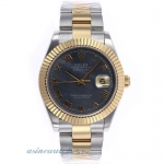 Cheap replica Rolex Datejust II Swiss ETA 2836 Movement Two Tone Roman Markers with Black MOP Dial 3