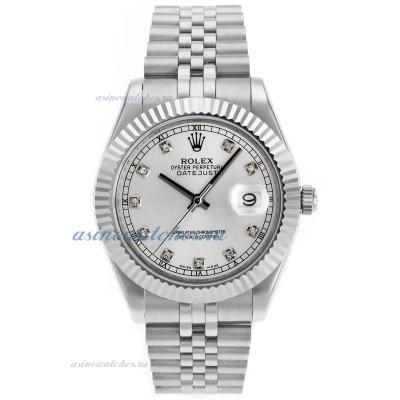 Cheap replica Rolex Datejust II Swiss ETA 2836 Movement Diamond Markers with Silver Dial online