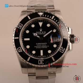 Cheap Rolex Submariner 2836 Auto Steel Case with Steel Bezel Black Dial For Sale - (AAAF)