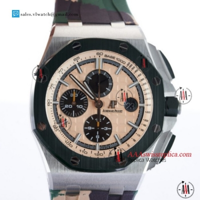 "1:1 Audemars Piguet Royal Oak Offshore 2018 SIHH ""Combat"" Clone AP Calibre 3126 Auto Steel Case With Apricot Dial For Sale - (JF)"