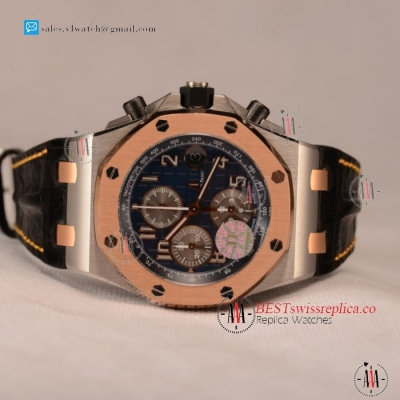 Audemars Piguet Royal Oak Offshore Chronograph 1:1 Clone AP Calibre 3126 Auto Steel Case With Blue Dial Run 12@Sec - (JF)