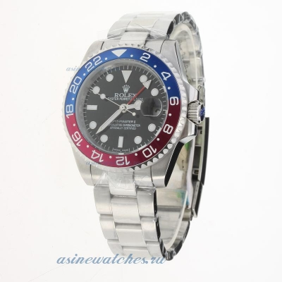 Cheap replica Rolex GMT Master II 2813 Movement Blue/Red Ceramic Bezel with Black Dial S/S