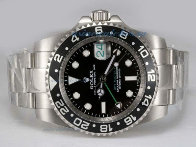 Cheap replica Rolex GMT-Master II 50th Anniversary Swiss ETA 2836 Movement with Black Dial and Bezel
