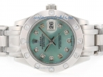 Cheap replica Rolex Masterpiece Swiss ETA 2836 Movement Diamond Marking with Green MOP Dial 2 online