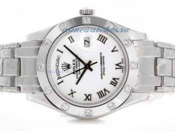 Cheap replica Rolex Masterpiece II Swiss ETA 2836 Movement Roman Markers with White Dial online