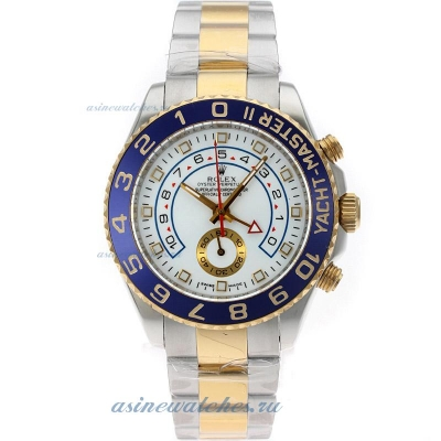 Cheap replica Rolex Yacht-Master II Automatic Two Tone with White Dial S/S Same Structure as ETA Ver