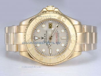 Cheap replica Rolex Yacht-Master Automatic Full Gold with Granite Dial sale in this store!