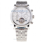 Replica Patek Philippe Perpetual Calendar Tourbillon Automatic with White Dial S/S-1 online