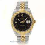 Cheap replica Rolex Datejust II Swiss ETA 2836 Movement Two Tone Roman Markers with Black Dial 2 onl