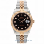 Cheap replica Rolex Datejust II Swiss ETA 2836 Movement Two Tone Diamond Markers with Black Dial 1 o