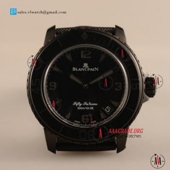 1:1 Cheap BlancPain Fifty Fathoms 500 2824 Auto PVD Case with Black Dial For Sale - 1:1 (ZF)