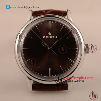 Cheap Zenith Vintage 9015 Auto Steel Case with Brown Dial For Sale - (AAAF)