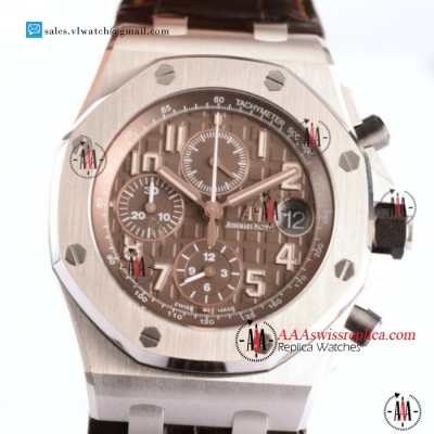 Audemars Piguet Royal Oak Offshore 3126 Auto Steel Case with Brown Dial For Sale - (JF)