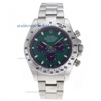 Cheap replica Rolex Daytona II Automatic with Green Dial S/S-Oversized Version online