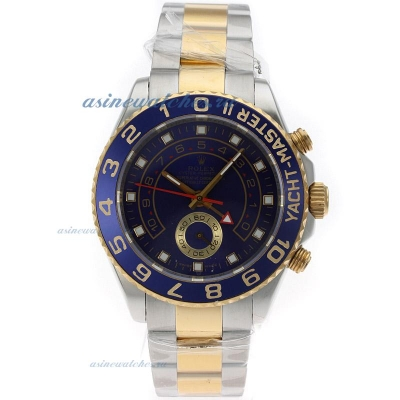 Cheap replica Rolex Yacht-Master II Automatic Two Tone with Blue Dial S/S Same Structure as ETA Vers