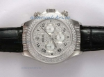 Discount Rolex Daytona Chronograph Swiss Valjoux 7750 Movement with Diamond Bezel and Dial 1 sale